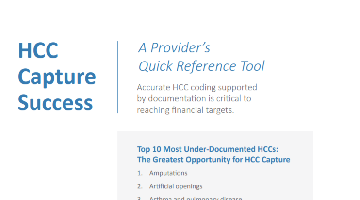 HCC Provider Quick Reference Tool