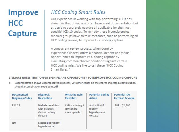 Increase HCC Capture with HCC Coding Smart Rules